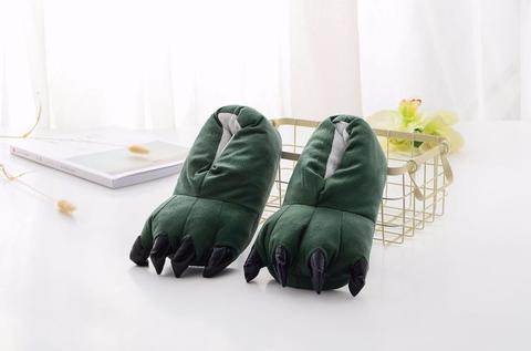 Тапочки когти зеленые