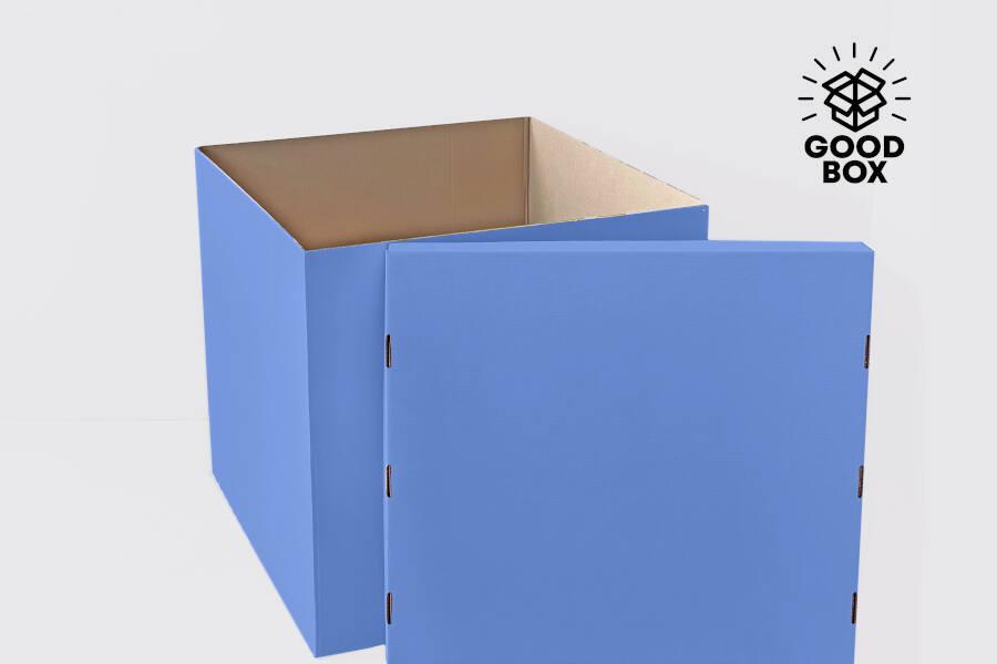 Голубая коробка для шаров заказать в Казахстане с доставкой