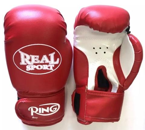 Перчатки  боксерские  REALSPORT 10 унций, красный (ЕвСп) (33579 10 унц красн)