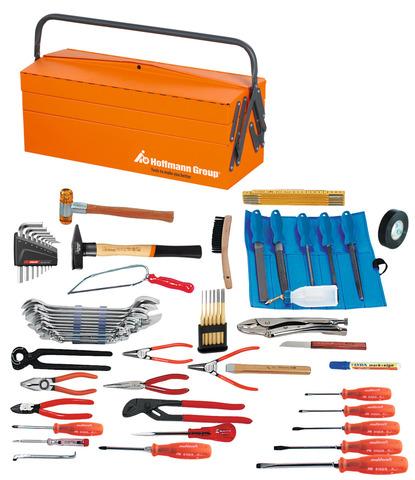Набор инструментов для монтажника, 59 предметов с ящиком для инструмента из листовой стали
