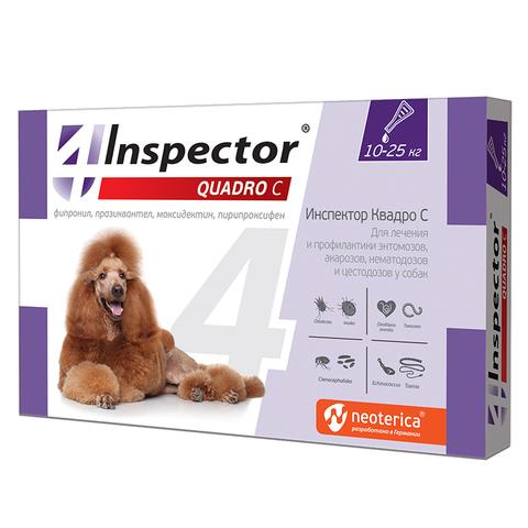INSPEСTOR Quadro K (Инспектор) для собак 10-25 кг   1 пип.