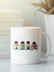 Кружка с изображением Битлз (The Beatles) белая 004