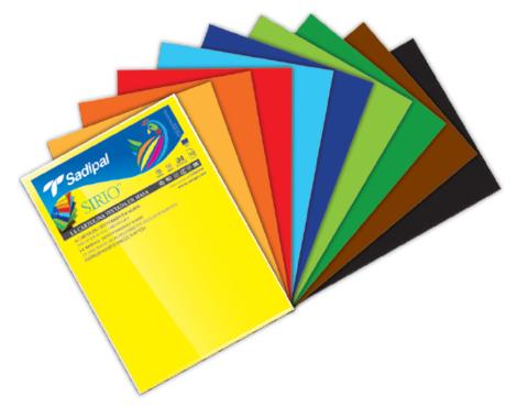 Набор цветной бумаги в листах Sadipal  Sirio 170г/м.кв A3 29,7*42см глубокие цвета 10 листов в упаковке