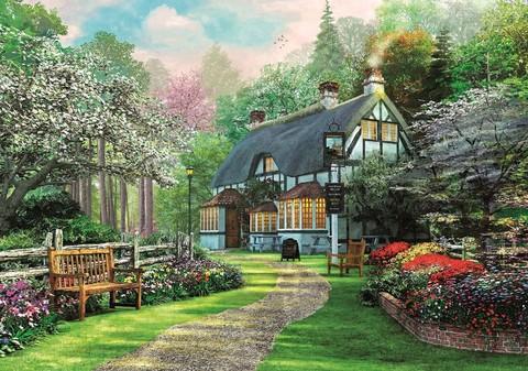 Картина раскраска по номерам 50x65 Тропинка к дому