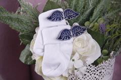 Носочки с крылышками (0-6 мес, синий)