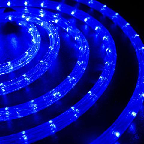 Набор круглого шланга дюралайт 10 м LED синий цвет