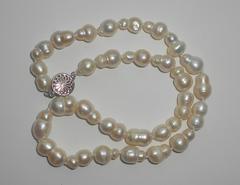 Ожерелье из двойного барокко жемчуга, 45 см