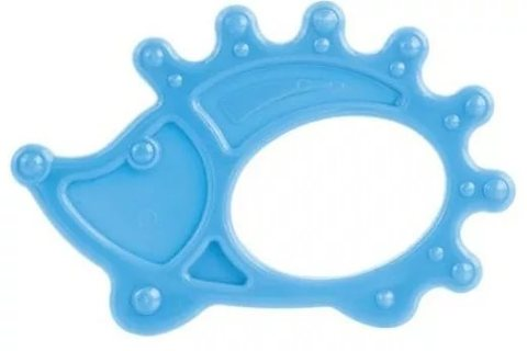 Прорезыватель мягкий, 0+, 3 вида (13/119) (голубой, форма: ёжик)