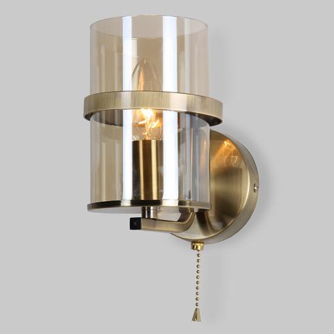 Классическое бра со стеклянным плафоном 60085/1 античная бронза