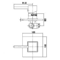 Смеситель KAISER Quadris 25017 для душа скрытого монтажа схема