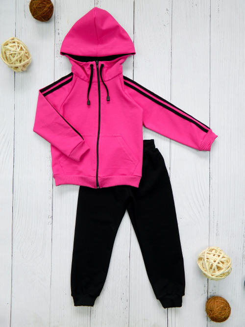 Костюм 3051, розово-черный