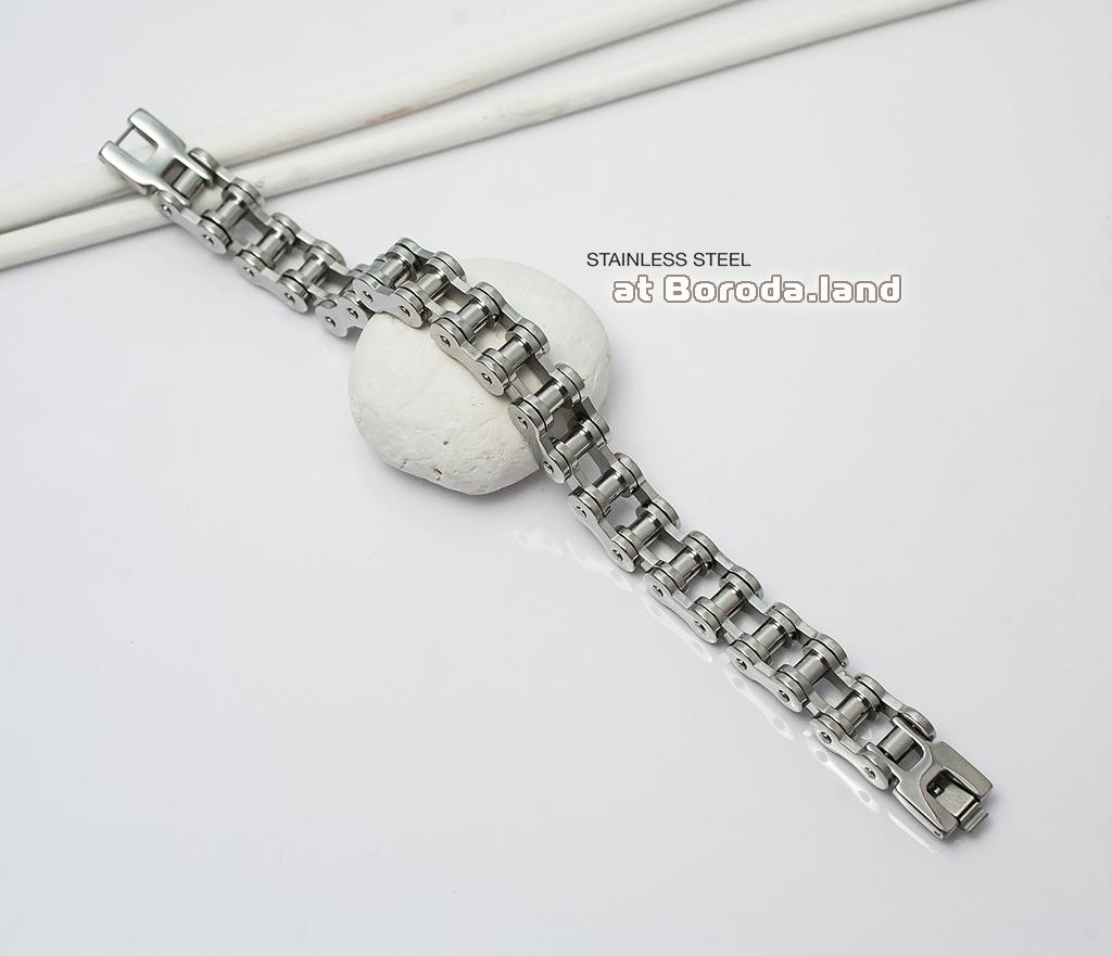 BM279 Стильный мужской браслет цепь из ювелирной стали (21 см) фото 02