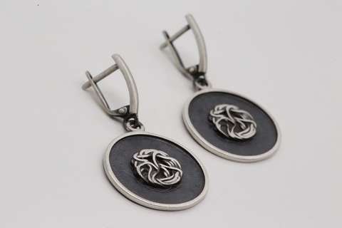 Серьги из серебра без камней Литва СИ-А2994401060