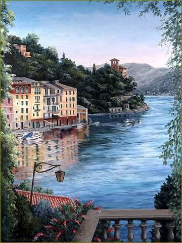 Картина раскраска по номерам 50x65 Вид с балкона