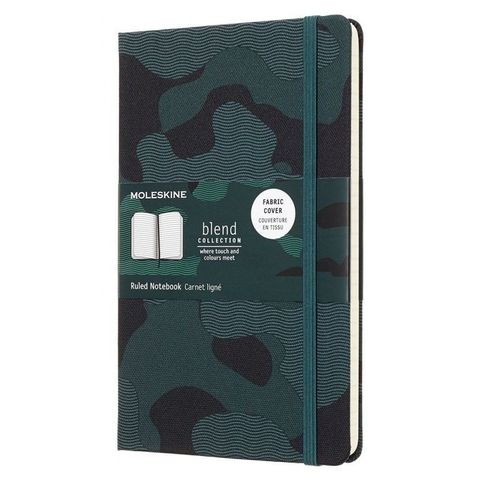 Блокнот Moleskine Limited Edition BLEND LGH LCBD03QP060CAMOK Large 130х210мм обложка текстиль 240стр. линейка Camouflage green