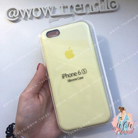 Чехол iPhone 6/6s Silicone Case /mellow yellow/ волшебно-желтый 1:1