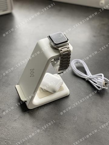 Беспроводная зарядка стенд Smart 3 in 1 T3 Fast 15W /white/