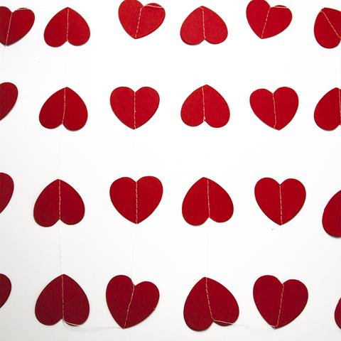 Гирлянда-подвеска Сердце, Красный