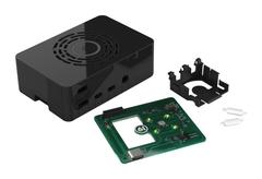 Корпус Multicomp с кнопкой для Raspberry Pi 4, пластиковый, чёрный