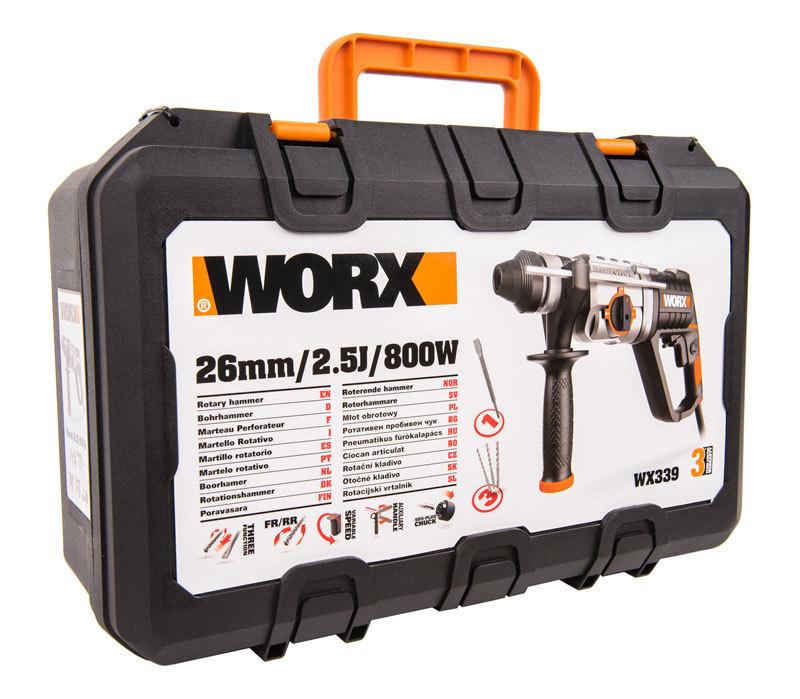 Перфоратор WORX WX339, 800Вт, кейс