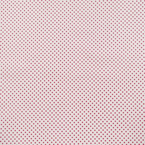 Ткань хлопковая красный горошек 3 мм на белом. Отрез 50*80 см