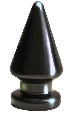 Чёрный анальный плаг MAGNUM - 10 см.