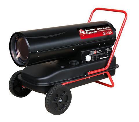 Нагреватель воздуха дизельный прямого нагрева QUATTRO ELEMENTI QE- 35D (35кВт, 720 м.куб/ч, бак 38л, 3,1л/ч, 21кг)