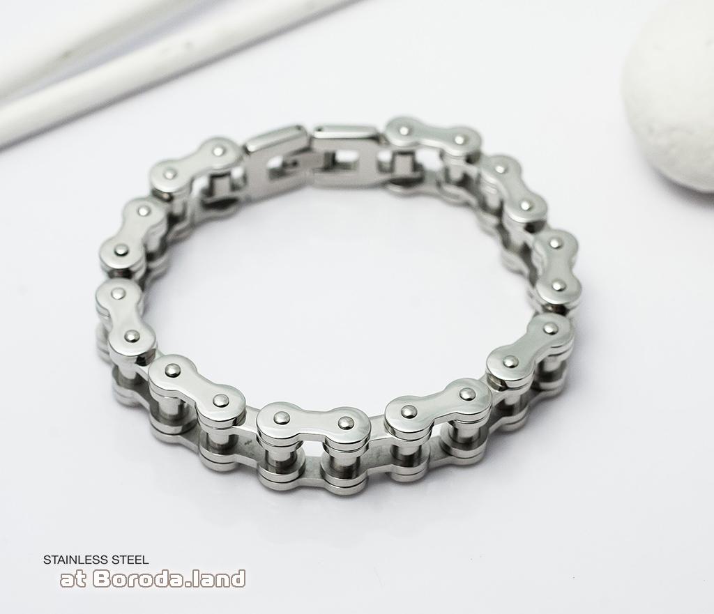 BM279 Стильный мужской браслет цепь из ювелирной стали (21 см) фото 03