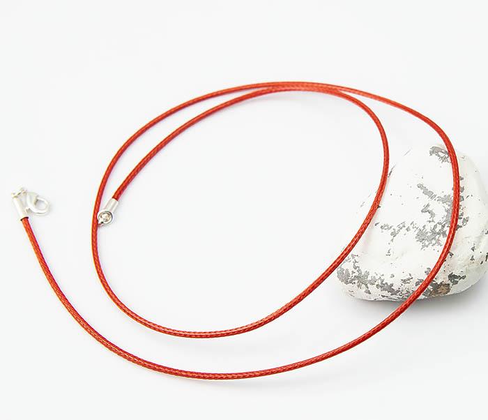 PL277-6 Шнурок для подвески красного цвета