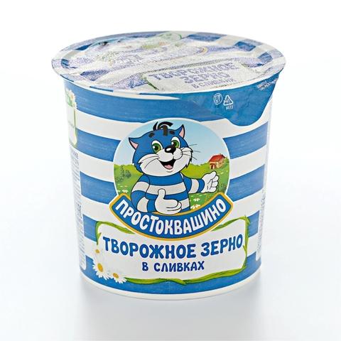 Творог ПРОСТОКВАШИНО зерненный в сливках 7% 350 гр Юнимилк РОССИЯ