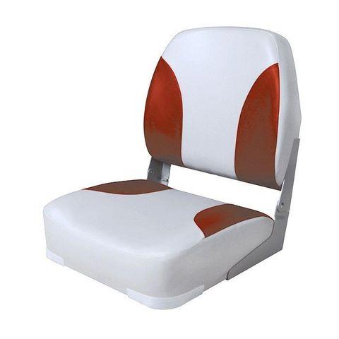 Сиденье мягкое складное Classic Low Back Seat, серо-красное