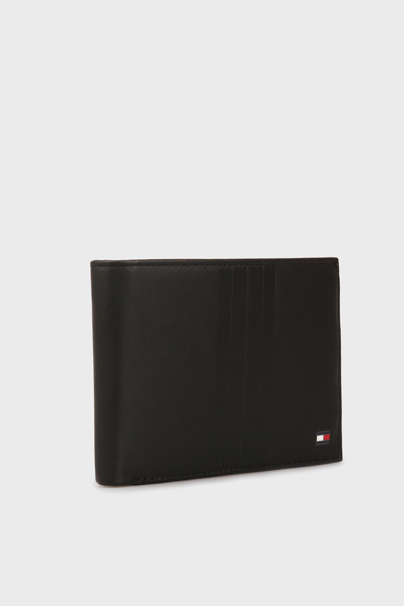 Мужской черный кожаный кошелек TH METRO Tommy Hilfiger