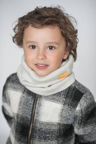 Детский снуд-горловинка из итальянской шерсти молочный