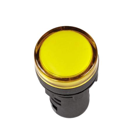 Лампа AD-16DS(LED)матрица d16мм желтый 24В AC/DC TDM