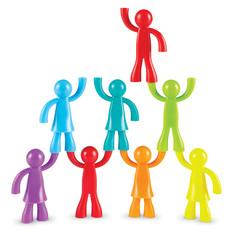 Развивающая игрушка Фигурки Разноцветные строители (32 элемента) Learning Resources, арт. LER1081