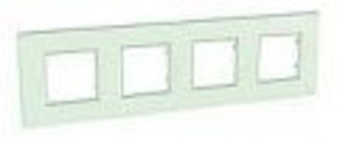 Рамка на 4 поста. Цвет Матовое стекло. Schneider Electric Unica Quadro. MGU2.708.17