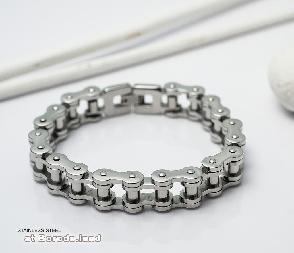 BM279 Стильный мужской браслет цепь из ювелирной стали (21 см) фото 04
