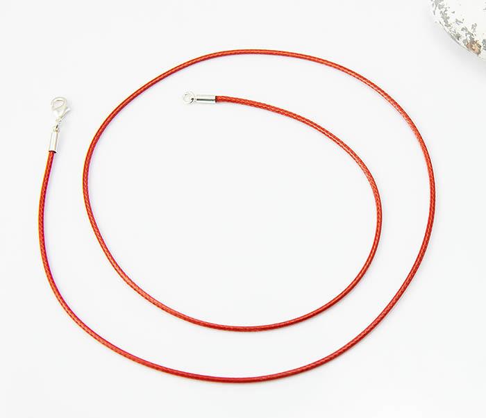 PL277-6 Шнурок для подвески красного цвета фото 02