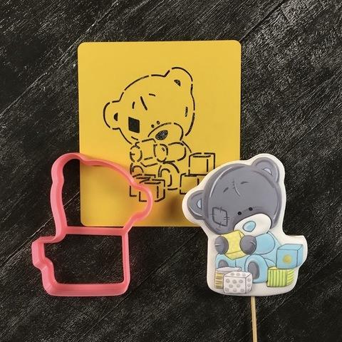 Мишка с кубиками №2
