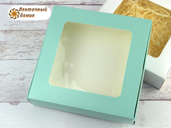Коробка картонная мятная № 5 (155*155*35 мм)