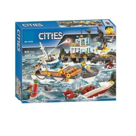 Конструктор Cities 10755 Штаб береговой охраны