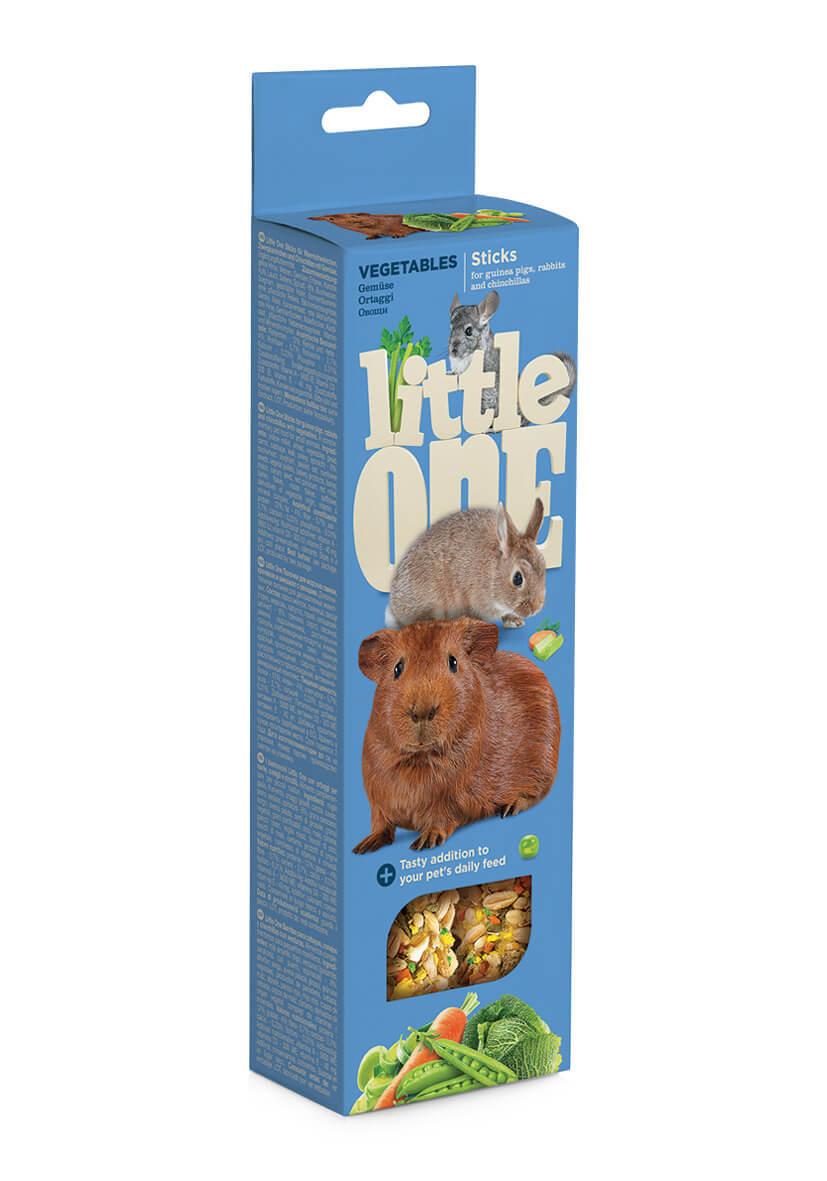 Лакомства Палочки Little One для морских свинок, кроликов, шиншилл с овощами (2х55 гр) Sticks_vegetables.jpg