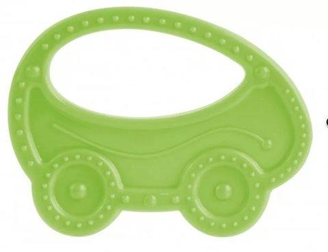 Прорезыватель мягкий, 0+, 3 вида (13/118) (зеленый, форма: машинка)