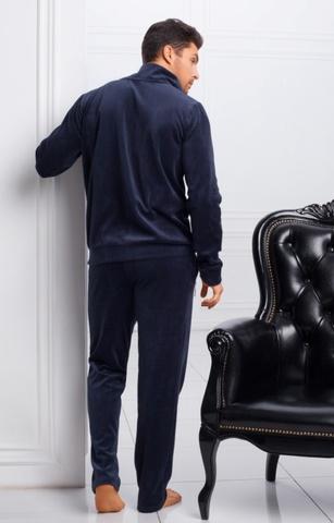 Мужской велюровый костюм синий 20243 Laete