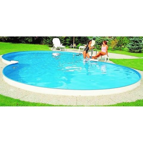 Каркасный бассейн в форме восьмерки Summer Fun 7.25м х 4.6м, глубина 1.2м, морозоустойчивый 4501010515KB