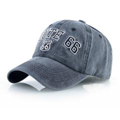 Route 66 бейсболка из денима (Джинсовая кепка Рут 66) темно-синяя