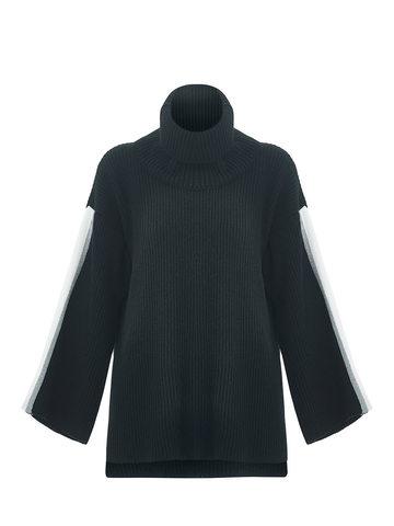 Женский джемпер черного цвета из шерсти и кашемира - фото 6