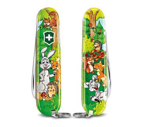 Нож My First Victorinox Rabbit Edition, 84 мм, 9 функций, зеленый