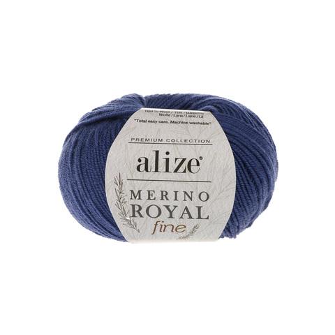 Alize Merino Royal Fine синий 444