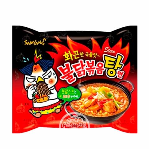 Лапша б/п Hot chiken рамён stew type со вкусом курицы острая 145г SAMYANG Южная Корея